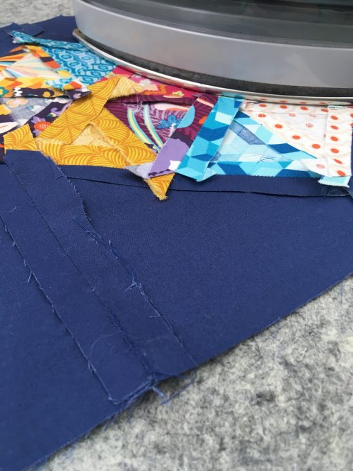 using a Wool pressing mat when piecing a quilt