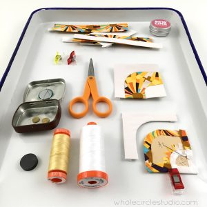 English Paper Piecing tools, papers and supplies.