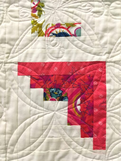 detail of Betsy Ryan, Quilted by Janice Roy