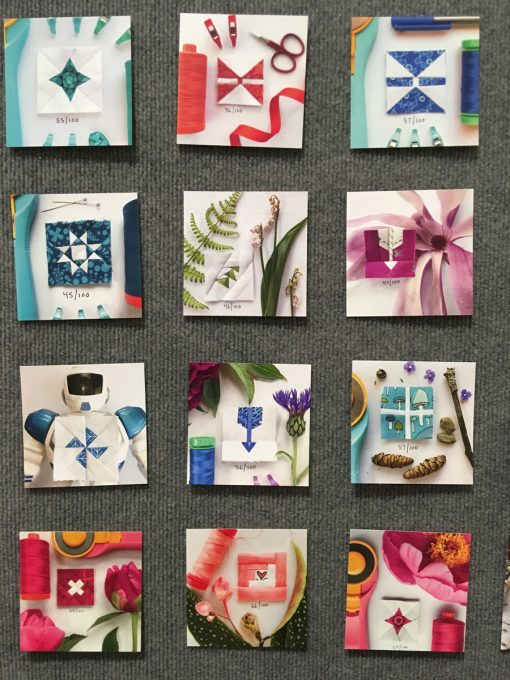 """detail of """"100 Days of Sewing Smaller"""" by Kitty Wilkin"""