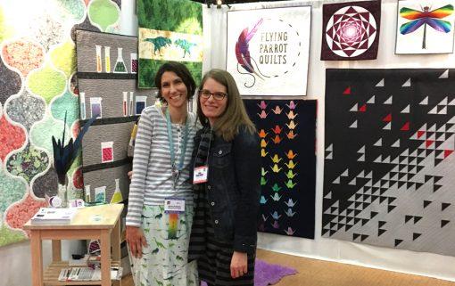 Sylvia Schaefer and Sheri Cifaldi-Morrill of Whole Circle Studio at International Fall Quilt Market 2017