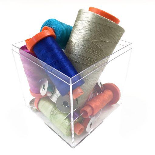 Aurifil 50wt cotton thread.