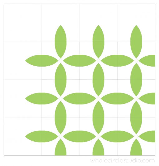 early design of Picnic Petals quilt by Whole Circle Studio