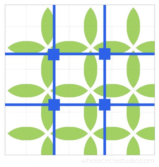 early design of Picnic Petals quilt by Whole Circle Studio. Considering the Rule of Thirds