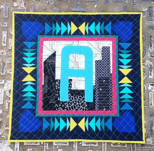 Alphabet Letter Chicago inspired mini quilt