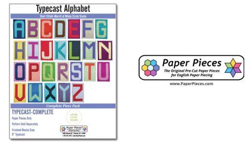 Complete Typecast Alphabet Paper Set - EPP Whole Circle Studio with Paper Pieces