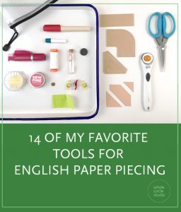 My favorite tools for EPP (English Paper Piecing). I hope my recommendations are helpful as you're making your modern quilts using this traditional hand sewing technique!