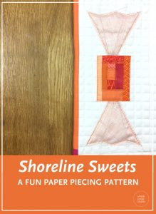 Make a Sweet Treat! Shoreline Sweets are easy, quick blocks to make in an afternoon. Included in this foundation paper piecing pattern are two block designs(finished size: 18″ x 4.5″ and 4.5″ x 9″). Approximate fabric requirements are included but this is also a great pattern to use up your scraps!  These blocks are the perfect size for a mug rug, placemat or mini quilt. Make multiple blocks to make a table runner or larger quilt. PDF pattern available exclusively at wholecirclestudio.com