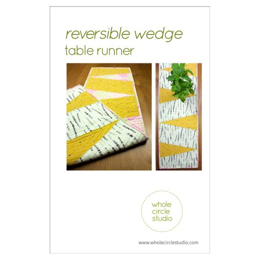 free quilt pattern—quilted reversible wedge table runner by Whole Circle Studio