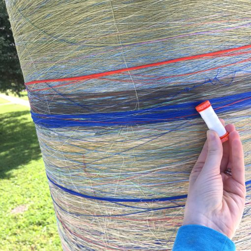 World's Largest Spool of Thread, sponsored by Aurifil.
