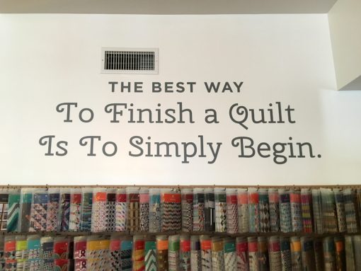 The best way to finish a quilt is to simply begin.