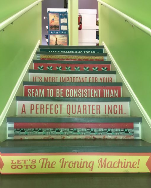 Quilting stairs