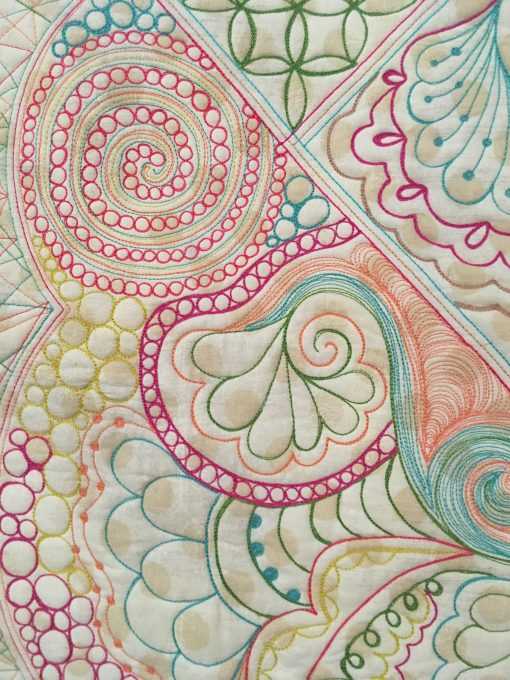 "detail of ""A Quilter's Doodles Quilt"" by Karen Miller"