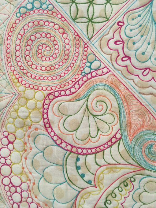 "detail of ""A Quilter's Doodles Quilt"" by Karen Miller"