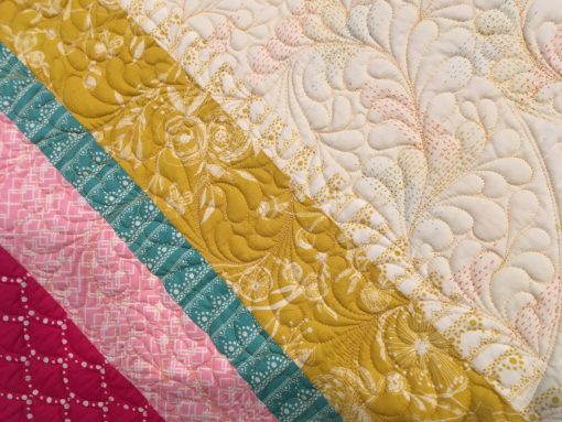 "detail of ""Simply Spring Fleur Quilt"" by Karen Miller"