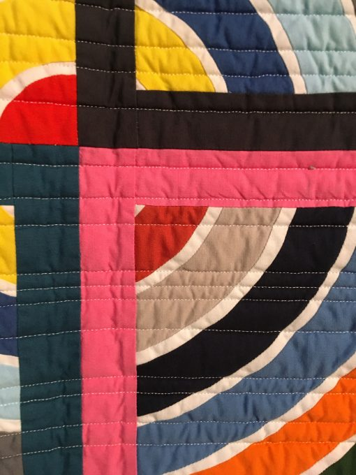 "detail of ""Squaring the Circle"" by Erin Andrews - modern quilt"