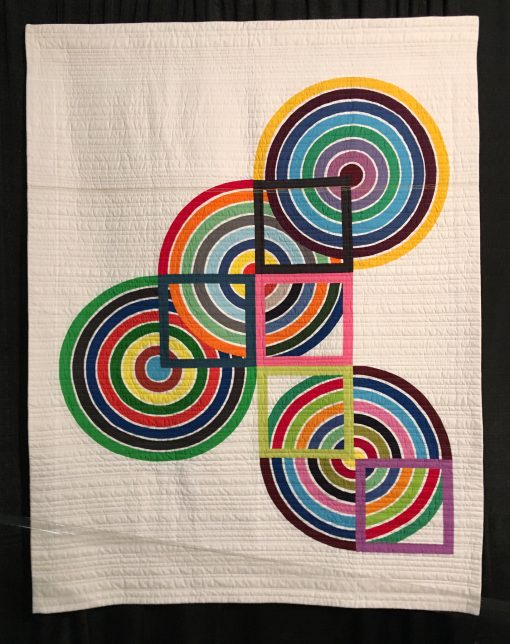 """Squaring the Circle"" by Erin Andrews - modern quilt"