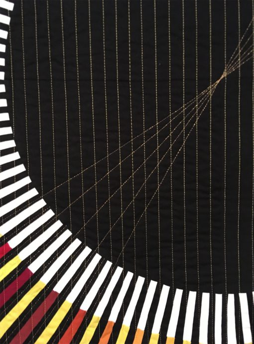"""detail of """"Offset Radial"""" by Audrey Esarey"""