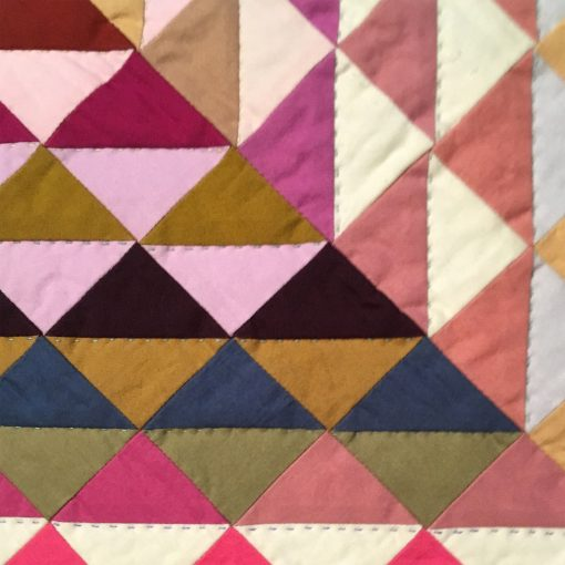 "detail of ""Railroad Crossing Quilt"" by Tara Faughnan"
