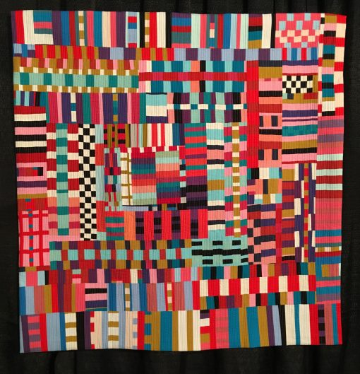 """Good Vibrations"" by Kristin Shields Statement: ""This quilt represents the pure joy of playing with color, rhythm, and pattern. Improvisational piecing is all about saying yes to the possibilities."" [Design Source: Original Design 