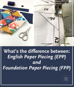 What are the benefits of and differences between English Paper Piecing (EPP) and Foundation Paper Piecing (FPP) when piecing a quilt top. Check out this blog post for a comparison in a chart. If you've tried one but not the other, I hope you'll be inspired to explore.