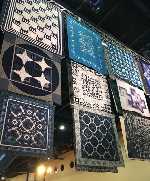 Sapphire Celebration, a special quilt exhibit from 2019 International Quilt Festival in Houston, Texas.
