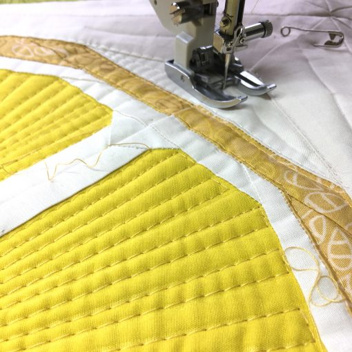 Quilting with my walking foot / Even Feed Foot — Citrus Slices on my Janome 6700p