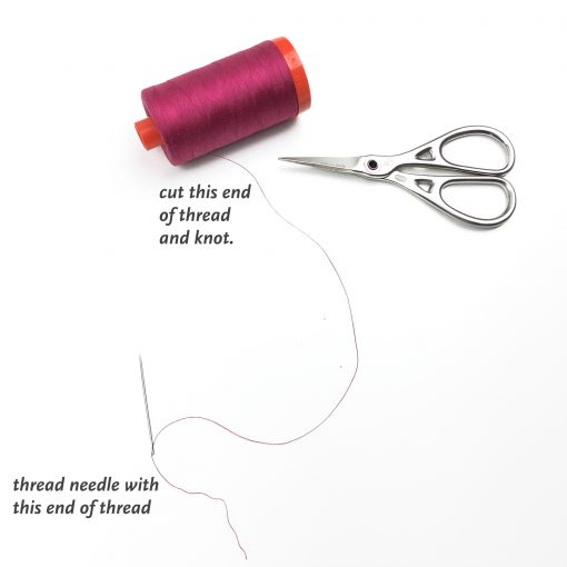 Minimize your knots and thread breakage when sewing by hand. Be sure to thread your needle the correct way!