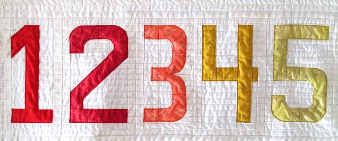 Numbers made from Typecast Fast, a foundation paper piecing pattern by Whole CIrcle Studio