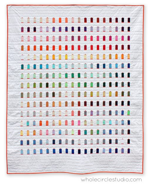 270 colors, a modern quilt designed and made for Aurifil by Sheri Cifaldi-Morrill. Features all the thread colors they offer.