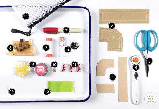 My favorite tools and supplies for English Paper Piecing. Recommendations for modern sewing and quilting by Whole Circle Studio