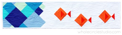 Row by Row quilt block - fishes - by Sheri Cifaldi-Morrill of Whole Circle Studio