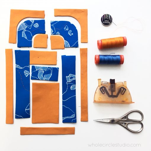 preparing for English Paper Piecing (EPP) the with Typecast / alphabet quilt block pattern