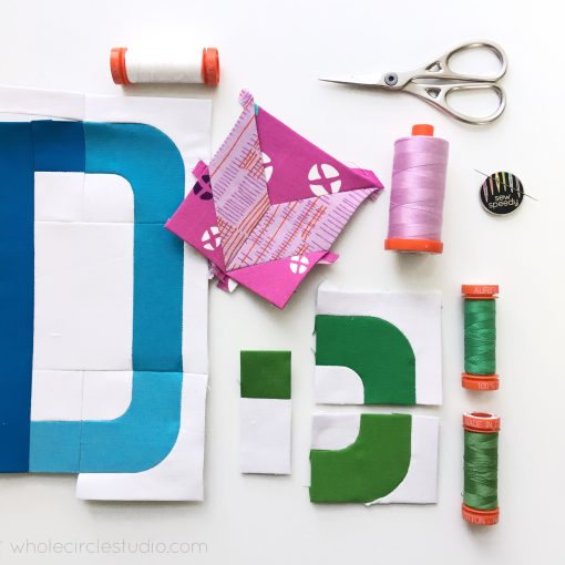 stitching English Paper Piecing (EPP) the with Typecast / alphabet quilt block pattern