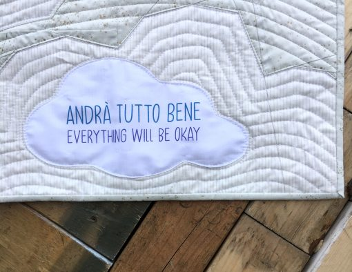 Andra Tutto Bene (Everything Will Be Okay) mini quilt—a free pattern by Whole Circle Studio and Aurifil.
