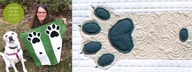 Welcome to Whole Circle Studio LIVE! Join us every Saturday at noon ET as we chat about what's happening in the Studio, give Studio updates, quilting tips, and chat about awesome things. This week we introduce you to the third member of the Studio and our family, Casey—our adorable yellow lab mix and the inspiration behind my Paws Up! quilt pattern. See photos of Paws Up! and get the quilt patter.