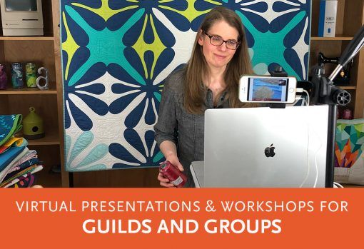 Online quilt presentations, trunk shows, and workshops by Sheri Cifaldi-Morrill of Whole Circle Studio.