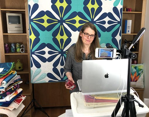 Online quilt presentation and workshop by Sheri Cifaldi-Morrill of Whole Circle Studio.