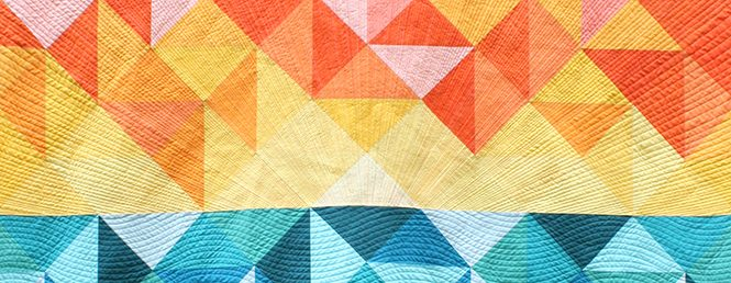detail of Sun Salutations quilt by Sheri Cifaldi-Morrill of Whole Circle Studio