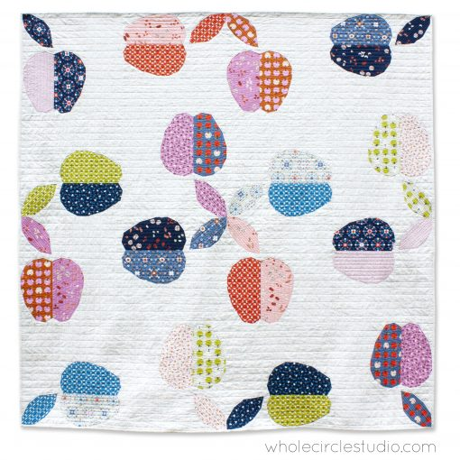 Apple Turnover, a fun modern foundation paper piecing quilt pattern. Designed by Sheri Cifaldi-Morrill of Whole Circle Studio