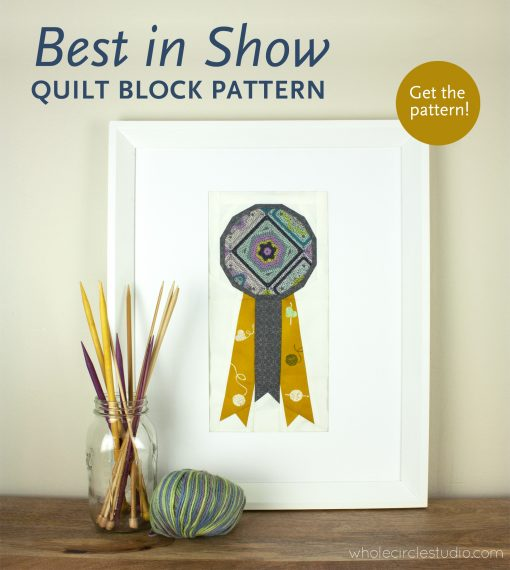 Best in Show foundation paper piecing quilt block pattern. Hooked fabric collection by Mathew Boudreaux for Art Gallery Fabrics. Easy modern quilt pattern by Whole Circle Studio
