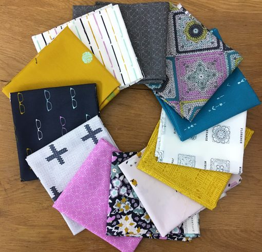 Hooked fabric collection by Mathew Boudreaux for Art Gallery Fabrics