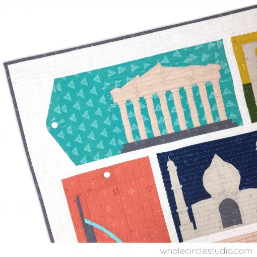 Athens Greece, Parthenon block made with Art Gallery Fabrics Elements