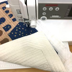 Quilting Around the World Colosseum quilt block on a Janome 6700p